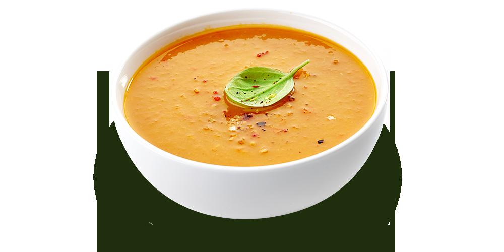 Creamy red kuri squash soup