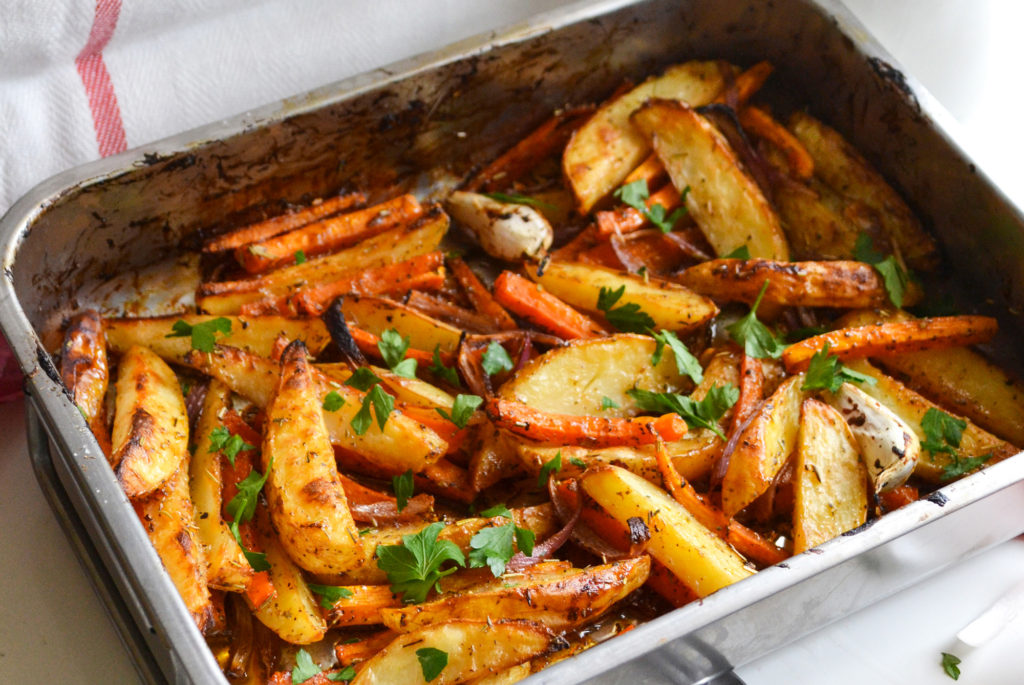 Roasted vegetables with BBQ sauce [Vegetarian]