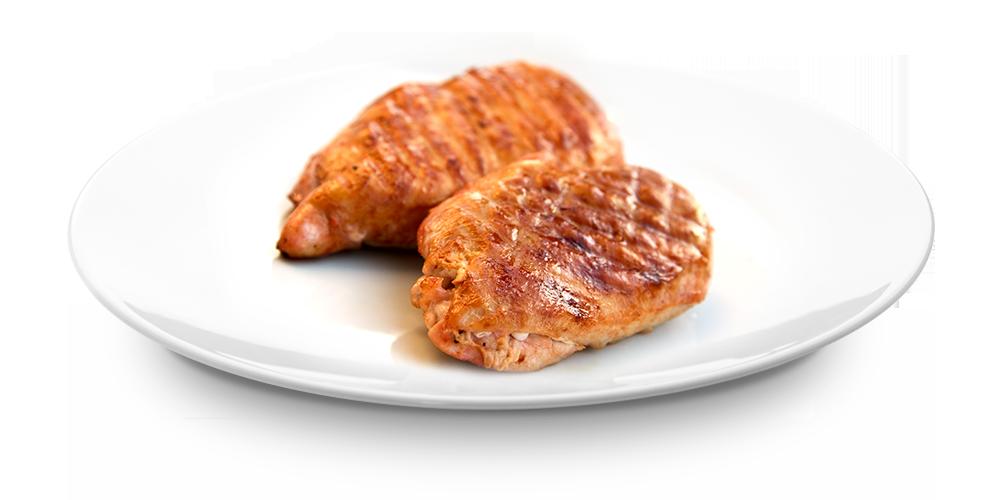 Pouletsbrëschtche mat BBQ Zooss