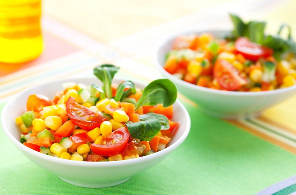 Sonnigen Salat